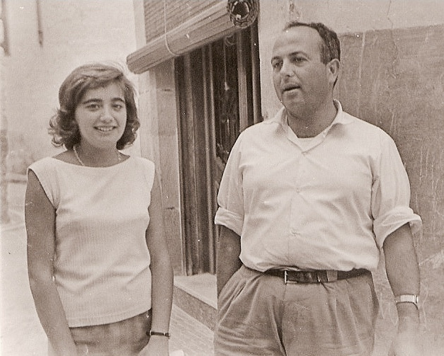 fch10 1961 Esther i Miguel en carrer Sant Joan