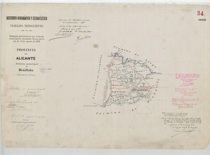 mapa terme B 1898 IGN